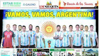 este sabado reclama tu poster de la seleccion argentina