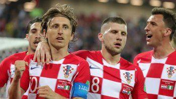 Luka Modric fue uno de los autores de los tantos de la selección croata.