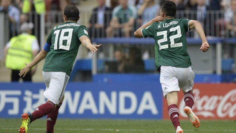 México dio un golpe y venció por 1 a 0 al campeón Alemania