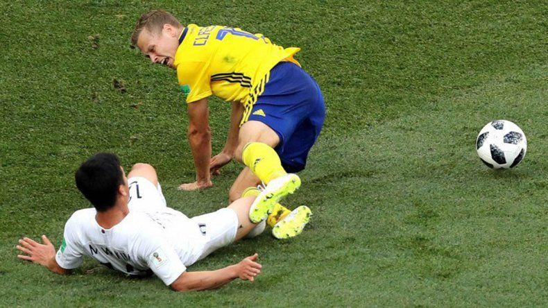 El VAR en acción permitió la victoria de Suecia ante Corea