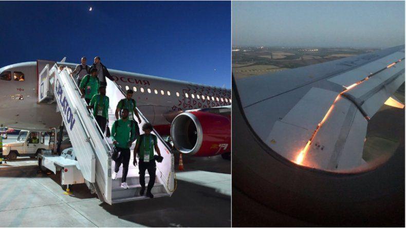 Se prendió fuego el avión de Arabia Saudita en pleno vuelo