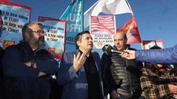 repudian la instalacion de una base militar extranjera en neuquen