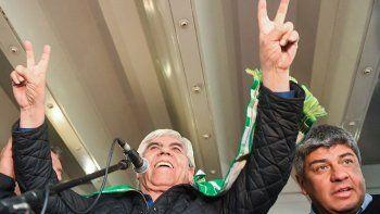 El sindicalista festejó el acuerdo conseguido.