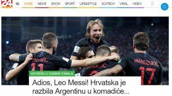 En Croacia los medios se burlaron de Argentina luego de la goleada