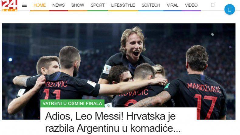 Los títulos burlones de los medios croatas ante la derrota de Argentina