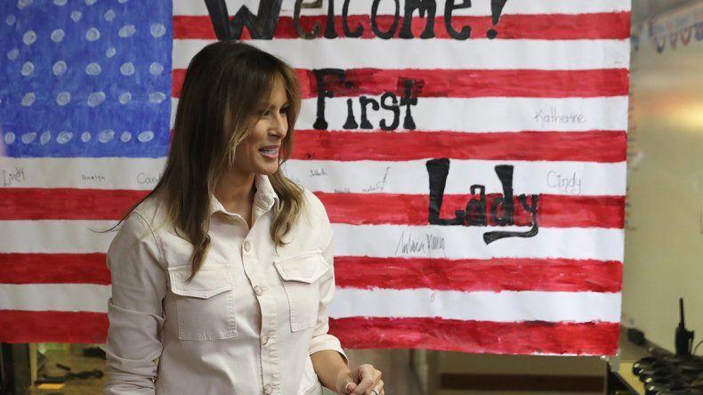 La primera dama estadounidense hizo preguntas sobre los niños.