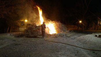 vandalos quemaron las ramas para la fogata de san juan