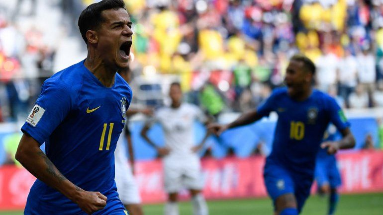 En el final, Brasil venció a Costa Rica y se acerca a octavos