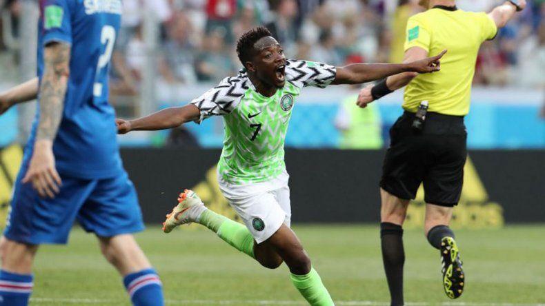 Nigeria le ganó a Islandia por 2 a 0 y alimenta la ilusión argentina