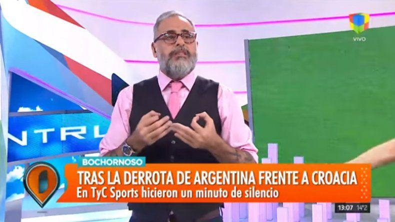 La dura crítica de Jorge Rial al minuto de silencio de TyC