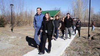 provincia aporto $1,5 millon para la planta cloacal de las lajas