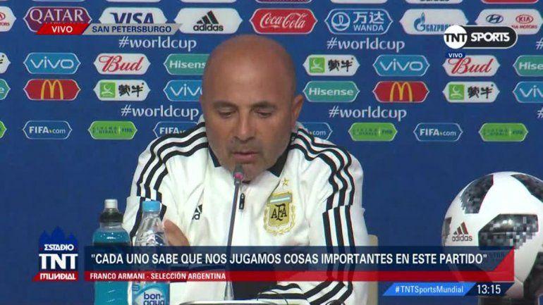 Sampaoli: Argentina empieza a jugar el Mundial mañana