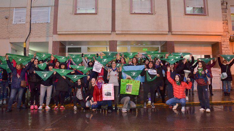 Como en todo el país, Neuquén reclamó una vez más por el aborto legal