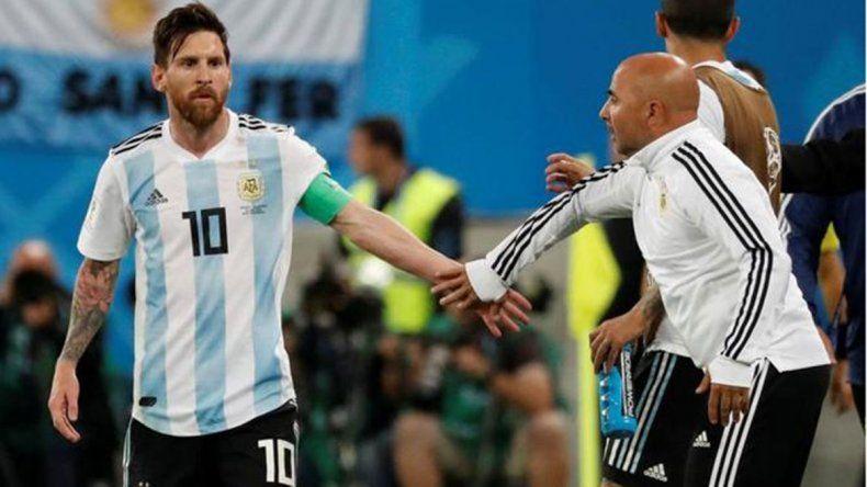 Pongo al Kun, la extraña charla de Sampa y Messi