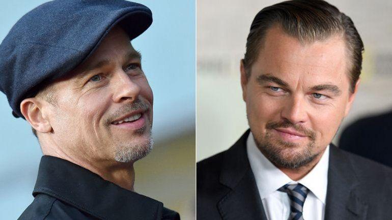 ¡Hay foto! Leo DiCaprio y Brad Pitt, juntos por primera vez en una película