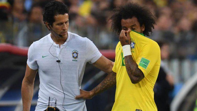 Alarma en Brasil: Marcelo se fue lesionado
