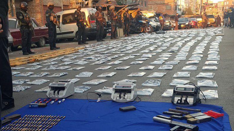 Del operativo participaron unos 500 efectivos de la Federal.
