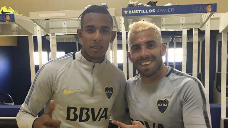 Sebastián Villa, la nueva cara de Boca, con el ídolo Tevez. A Quintero lo quiere Real Madrid. ¿Se resistirá River?