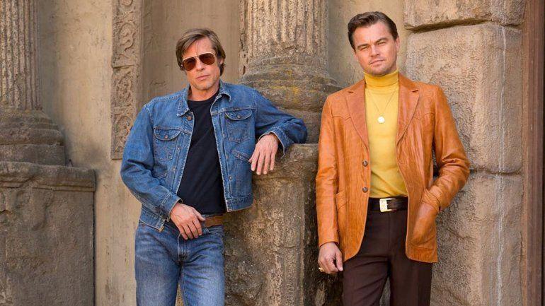 El nuevo look vintage de Brad Pitt y DiCaprio