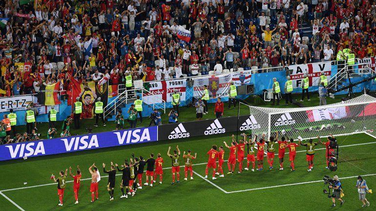 Bélgica venció 1 a 0 a Inglaterra y quedó como líder
