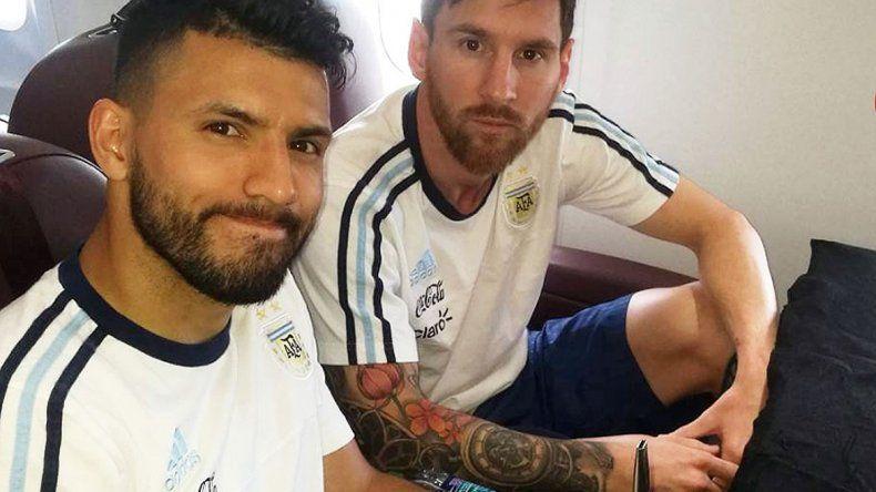 El Kun Agüero y Messi