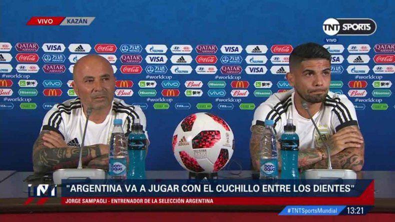 Sampaoli no confirmó el once y dijo que Messi es un farol para todos