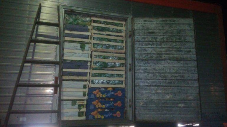 Sigue el tráfico de huevos: tenían 450 docenas escondidas entre la verdura