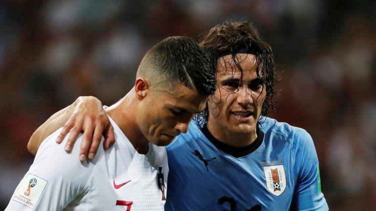 El lamento de Ronaldo. Cristiano fue lo mejor de su selección.