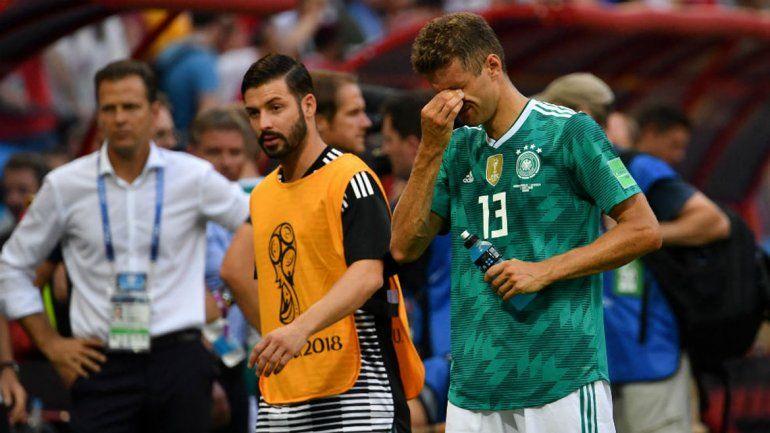 Un campeón apagado. Alemania quedó eliminada en la primera fase.