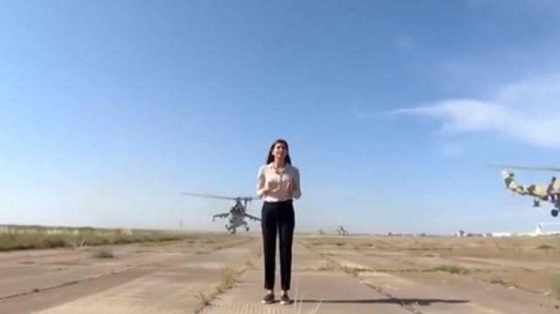 Una periodista casi muere decapitada por un helicóptero