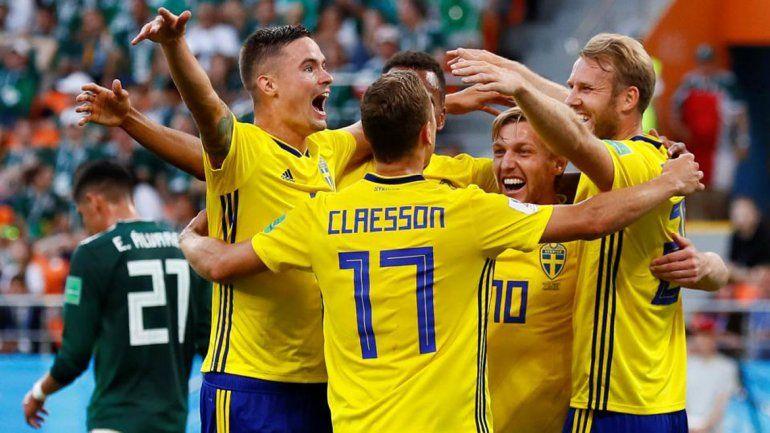 Suecia llega tras una goleada sorpresiva por 3-0 frente México.