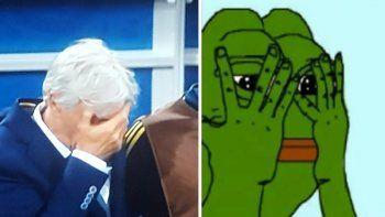 El sufrimiento de Pekerman mostrado en memes