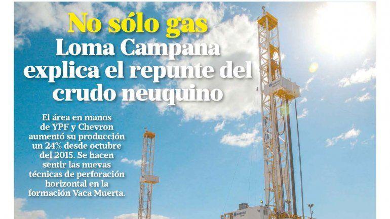 No sólo gas: Loma Campana explica el repunte del crudo neuquino