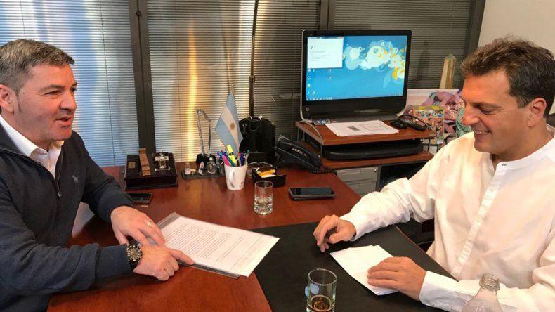 Sánchez se reunió con Massa de cara al armado del 2019