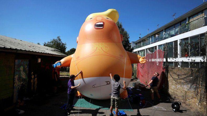 El alcalde de la capital inglesa autorizó la protesta contra Trump.