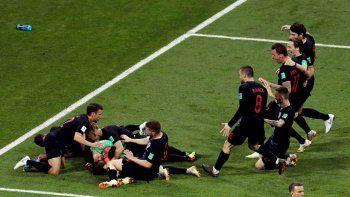 Croacia eliminó a Rusia y llegó a semifinales