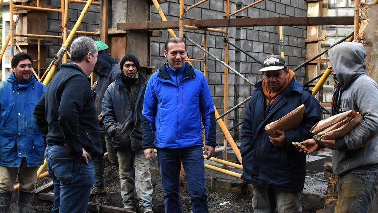 De recorrida por el sur, Gutiérrez hizo una visita a diferentes obras