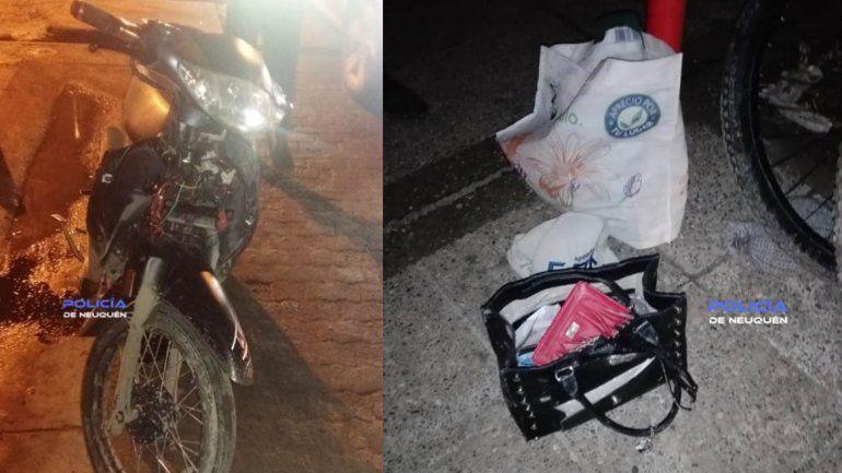 El colmo del motochorro: se les paró la moto después de un arrebato y los atraparon