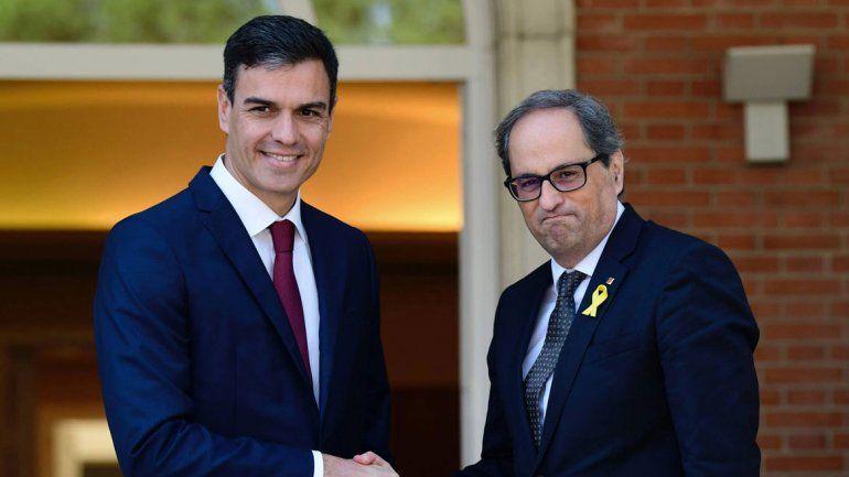 Pedro Sánchez y Quim Torra se reunieron en Madrid.