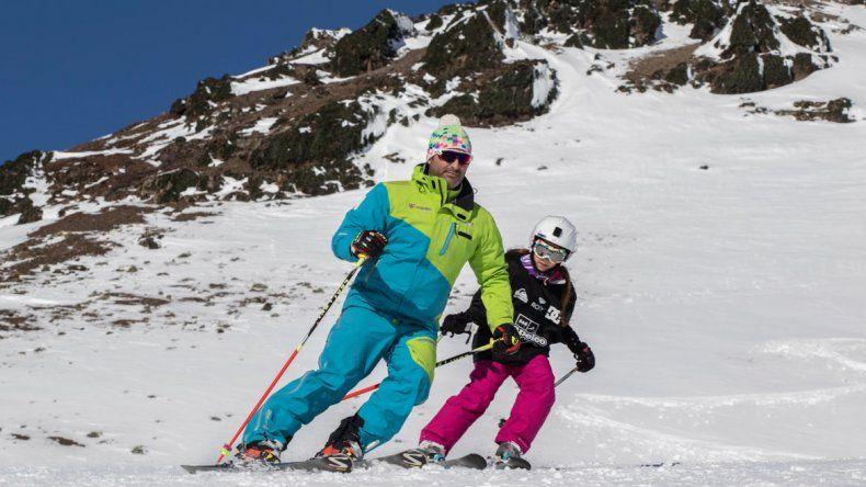 Los centros de esquí tuvieron un repunte en la actividad en estos días.