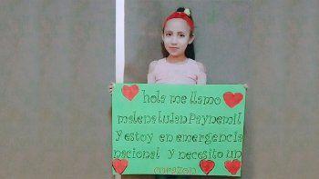 malena, una neuquina de 8 anos aguarda un trasplante de corazon