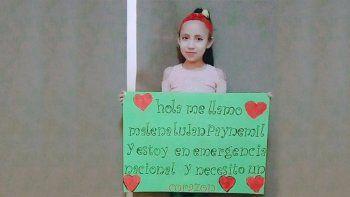 malena, una neuquina de 8 anos aguarda un trasplante de corazon que le salve la vida