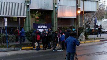 vigiladores cortan la calle en casa de gobierno