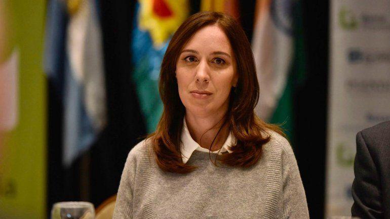 La gobernadora bonaerense relanzó una promoción del Banco Provincia.
