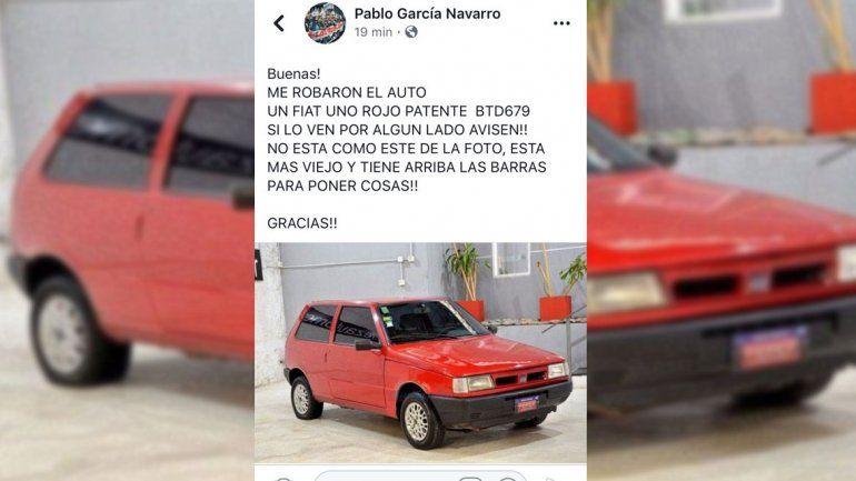Otra vez robaron un auto en el bajo neuquino