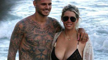 Los paparazzis encontraron a Wanda en Ibiza y dispararon sus cámaras al observar a la rubia sin maquillaje.
