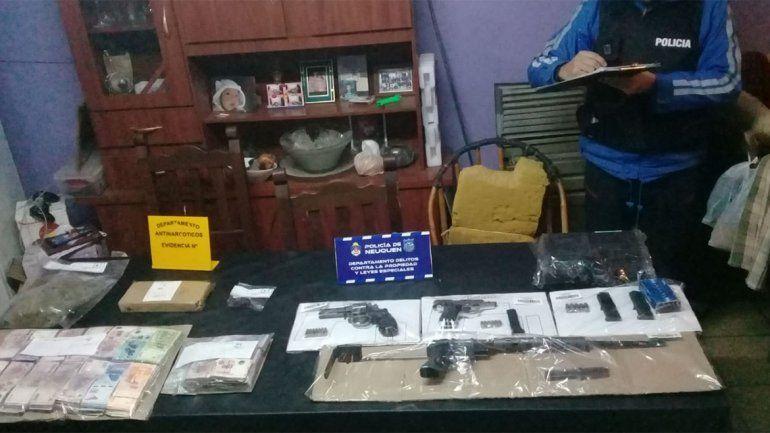Fueron a buscar electrodomésticos robados y hallaron plata, drogas y una ametralladora