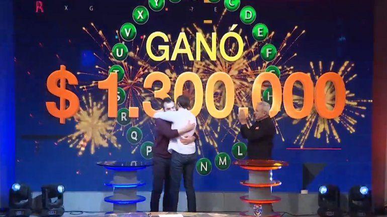 Diego ganó el Rosco de Pasapalabra y se llevó $1,3 millones