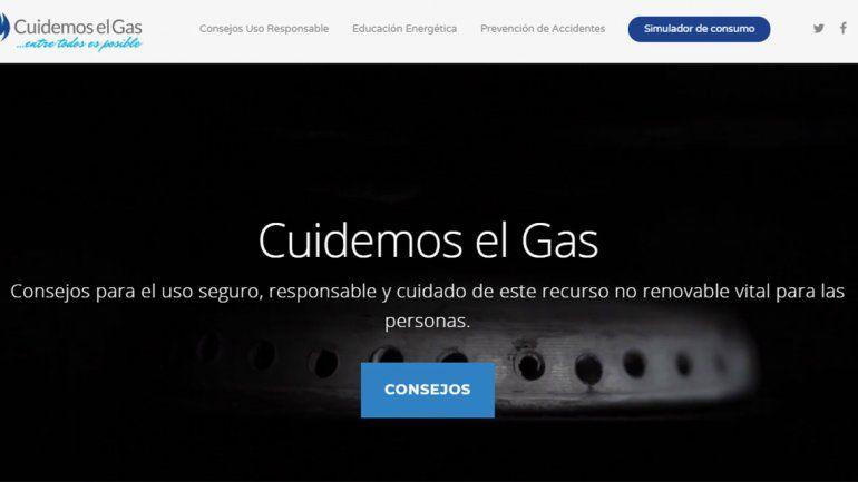 Lanzan una web con consejos para cuidar el gas