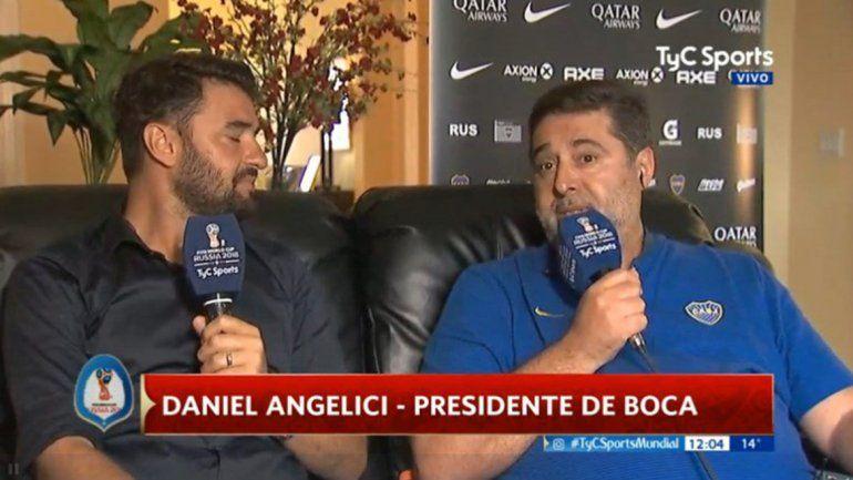 Angelici: Lo vi a Sampaoli con ganas de seguir